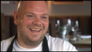 Tom Kerridge charming the nation on Masterchef making Marcus Wareing look positively evil.
