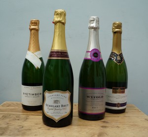 A selection of English Sparkling for an upcoming tasting in May.